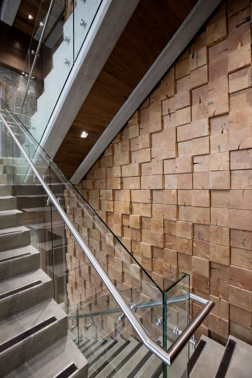 Wall Treatments by Nakedwood seen at Jacob Bros. Construction Inc., Surrey - Feature Walls