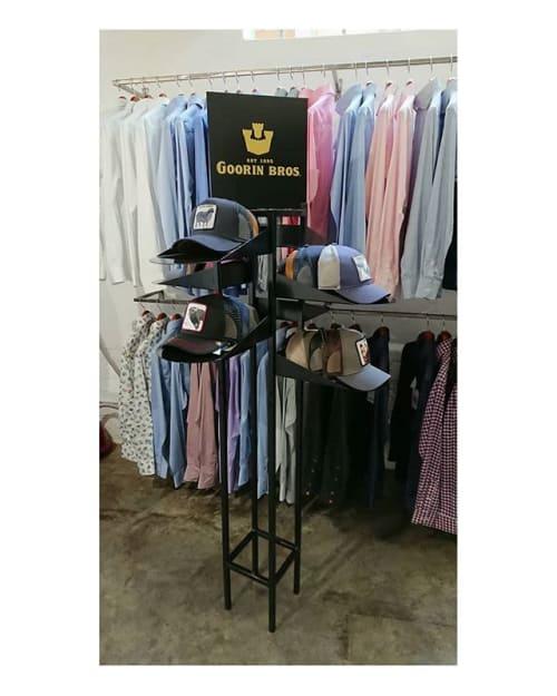 Furniture by Stripped seen at 274 Fox St, Johannesburg - Goorin Flat Pack Cap Stand
