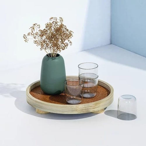 Tableware by Mianzi seen at Private Residence, New Delhi - Podium Tray Round L