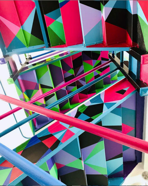 Murals by Chris Soria seen at Private Residence, New York - Staircase X
