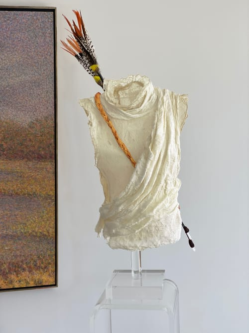 "Sculptures by Frances Vye Wilson seen at New York - GODS AND WARRIORS: Myth. ""Artemis"""