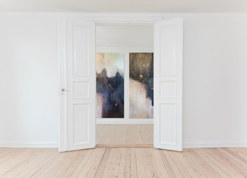 Paintings by Christine Olmstead seen at Private Residence, Washington - Let It Hold Your Hand
