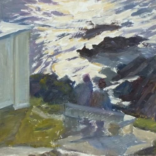 "Paintings by Julie Dunster seen at Private Residence - ""Blinded by the light, Barricade"" Painting"