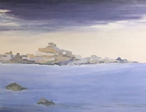 "Paintings by Benna Holden seen at Private Residence - ""Island Hopping Painting"""