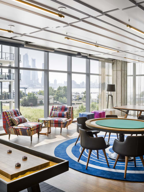 Rugs by Lucy Tupu Studio seen at New York, New York - RiverHouse 11-Game Room