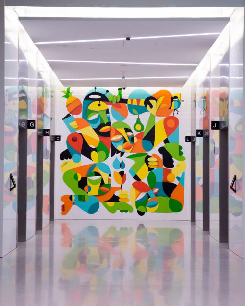 Murals by RUBEN SANCHEZ seen at Landmark Group, Dubai - Indoor Mural