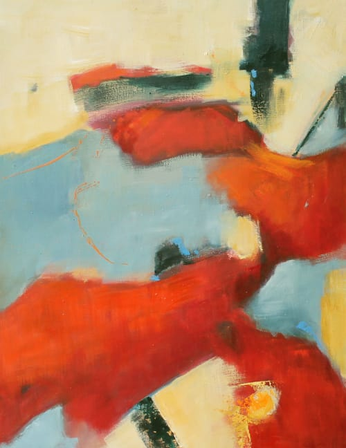 Paintings by Cecilia Arrospide seen at Private Residence - Lima, Peru, Lima - RED IN BLUES  I