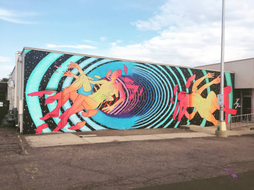 Murals by Bobby MaGee Lopez at Private Residence, Lakewood - The Illusion