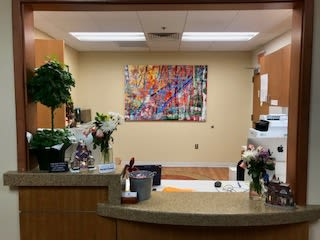 Paintings by Maria-Victoria Checa Art seen at Mary Ella Carter, MD, FACS, Washington - Pluie Sauvage II