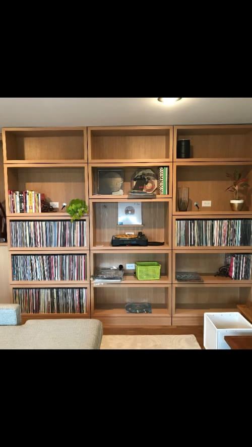 Interior Design by Craig MackIntosh Design seen at Council Crest, Portland - White Oak LP storage