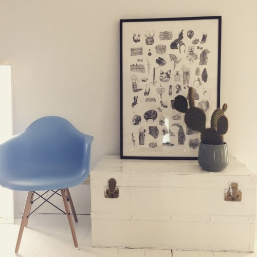 Paintings by Annelie Carlström seen at STICKYSTUFF Photographers Agency & Productions, Amsterdam - All those things
