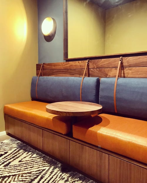 Benches & Ottomans by Honolulu Furniture Company seen at Park Lane Ala Moana, Honolulu - Walnut Banquette