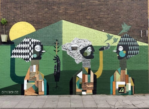 Street Murals by Expanded Eye seen at Global Street Art, London - Grow the future