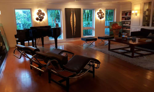 """Paintings by Hugo seen at Private Residence, Miami Shores - """"Unthreaded & Layered"""""""