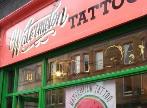 Watermelon Tattoo Sign Writing   Signage by Journeyman Signs (TATCH)   Watermelon Tattoo in Edinburgh