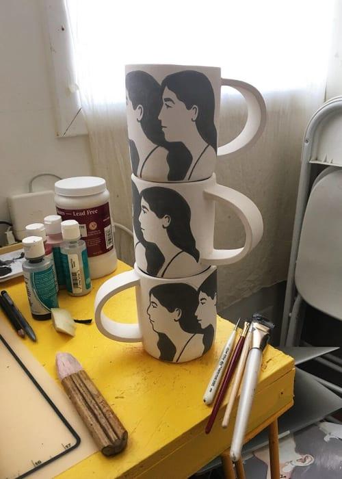 Cups by Alyssa Block seen at Alyssa Block Studio, San Francisco - Girls Mugs
