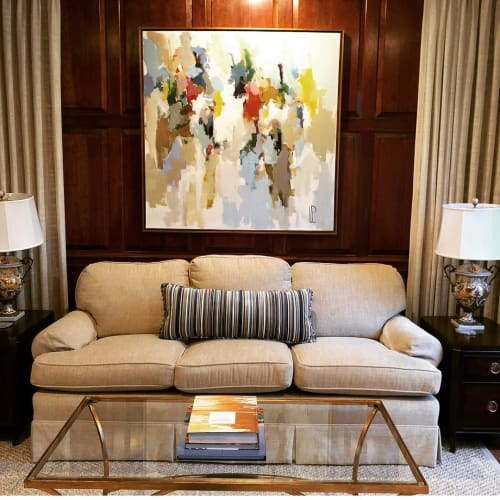 Paintings by Laura Park Designs seen at Private Residence, Raleigh - Abstract painting