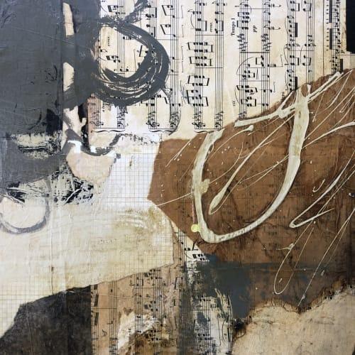 "Paintings by Paula Valenzuela Art seen at Room Art Gallery, Mill Valley - ""Tell me something girl"""