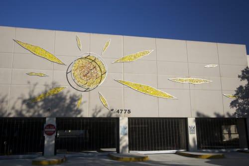 Public Mosaics by Carlos Alves & JC Studios seen at Parking Facility, Hialeah - Solar Flair