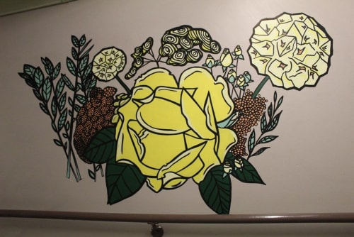 Art & Wall Decor by The Chaotic Aquatic (Ariel Parrow) seen at The Westin Seattle, Seattle - Mini Flower Mural