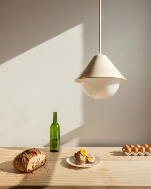 Pendants by In Common With seen at Private Residence, New York - Tipi Orb Pendant