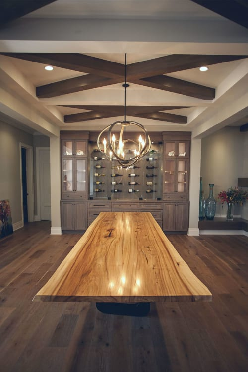 Tables by Lane 17 Design Co. seen at Private Residence, Aurora - Live Edge Elm Dining Table