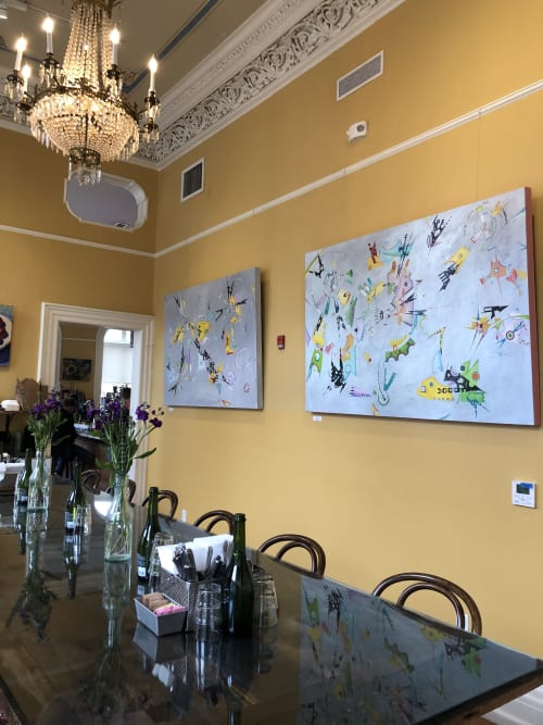 Paintings by American Surrealist seen at 1 Broad St, Charleston - Cosmic Being