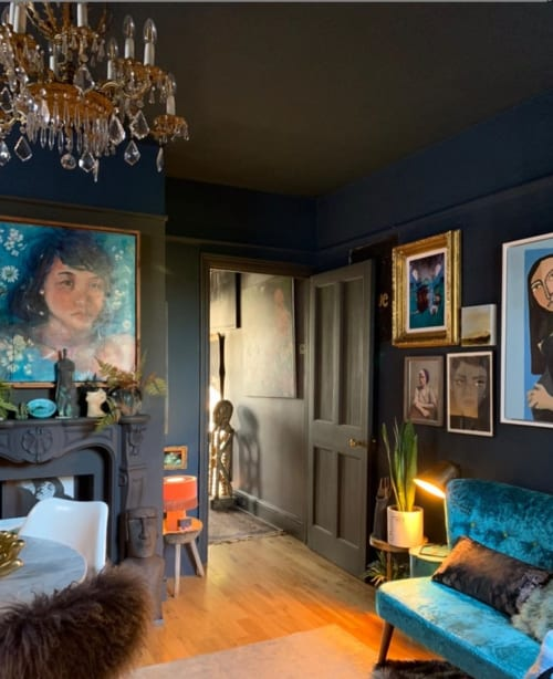 """Paintings by Ms Jetoapple seen at Private Residence, Cardiff - """"Floating"""" - Painting"""