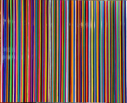 Paintings by OCEAN PLACE STUDIOS - ROMAN ROZUMNYJ seen at Private Residence, Winnipeg - STRIPES SERIES