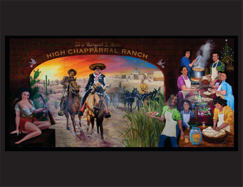 Murals by Jose Solis Creative Art Services seen at Private Residence, Goldendale - Coming Home for Christmas