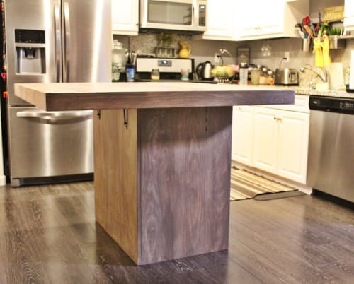 Furniture by Timber Fields Woodworks seen at Private Residence, Anaheim - Kitchen Island