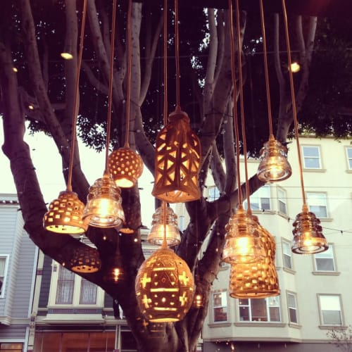 Pendants by Jude Swafford seen at Cisco Home, San Francisco - Porcelain Pendant Lighting