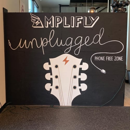 Murals by Erica Nelson seen at Amplifly: RIDE LIFT FLOW, Wilmington - Amplifly Unplugged