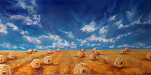 "Paintings by Sabine Hahnel seen at Private Residence, Edmonton - ""Field of dreams"""