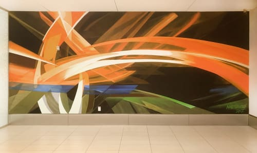 Murals by Mike Bam Tyau seen at Uber HQ, San Francisco - Bridge of Cultures