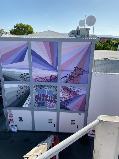 Street Murals by Everyday Hooray seen at Livermore Mural Festival, Livermore - Think Outside the Box