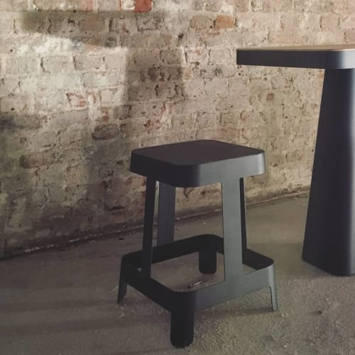 PILE Stool and Table | Chairs by Bold Design | MIGNON café in Paris