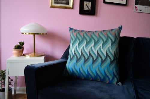 Pillows by Knapp Textiles seen at Creator's Studio, Huddersfield - FIBONACCI LARGE SQUARE CUSHION IN WOOL
