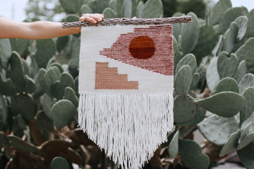 Wall Hangings by Zanny Adornments seen at Private Residence - Austin, TX, Austin - Tapestry with Cholla Cactus Wood