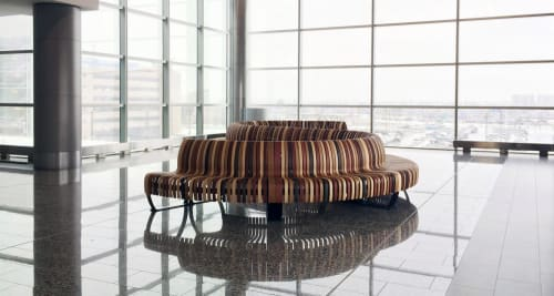 Benches & Ottomans by Green Furniture Concept seen at Calgary International Airport, Calgary - Nova C Double Back
