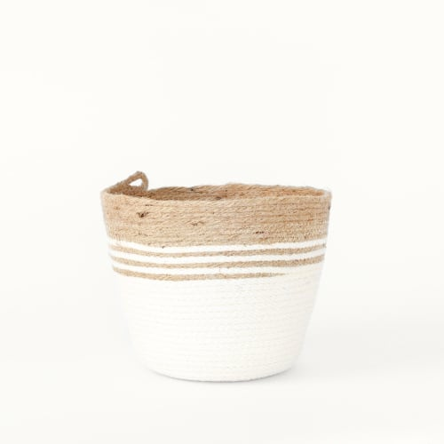 Vases & Vessels by MOkun seen at Bay Area Made x Wescover 2019 Design Showcase, Alameda - Chunky Coiled Rope and Jute Bucket