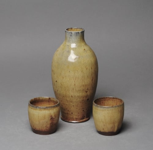Cups by John McCoy Pottery seen at Creator's Studio, West Palm Beach - Sake set with two Cups