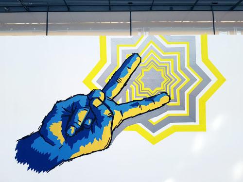 Tape Art Mural | Murals by Fabifa | Stern-Center Potsdam in Potsdam