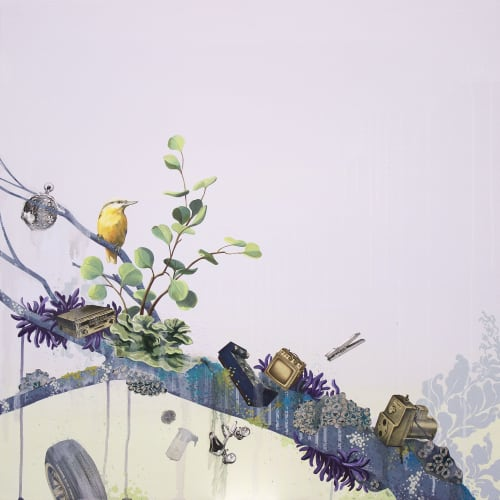 Paintings by Lauren Matsumoto seen at MiXX Projects + Atelier, Telluride - Low Tide No. 10