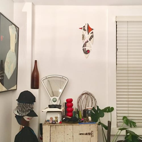 Wall Hangings by Christina Mclean - TRADEtheMARK seen at Private Residence - Ceramic Wall Piece