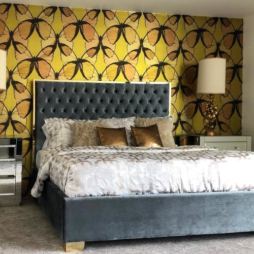 Wallpaper by FliePaper seen at Indian Canyons, Palm Springs - Custom Layered Butterfly