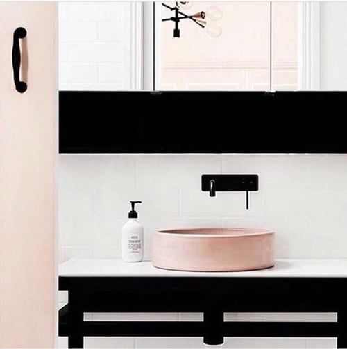 Water Fixtures by Nood Co. seen at Private Residence, Perth - Bowl Sink in Blush Pink