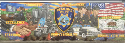 Murals by Maxfield Bala Creative seen at 969 Petaluma Blvd N, Petaluma - Maxfield Bala