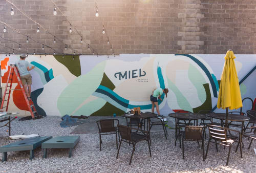 Murals by Anna Koeferl seen at Miel Brewery & Taproom, New Orleans - Miel Brewery Mural
