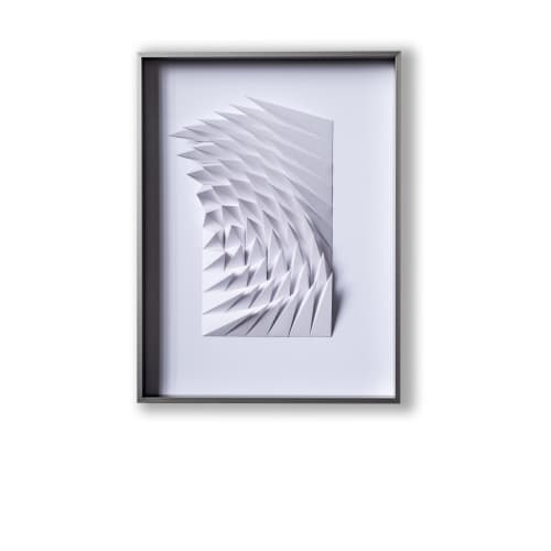 Sculptures by Yossi Ban Abu seen at Private Residence - White Swirls